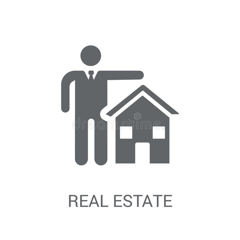 Real estate insurance icon. Trendy Real estate insurance logo co royalty free illustration