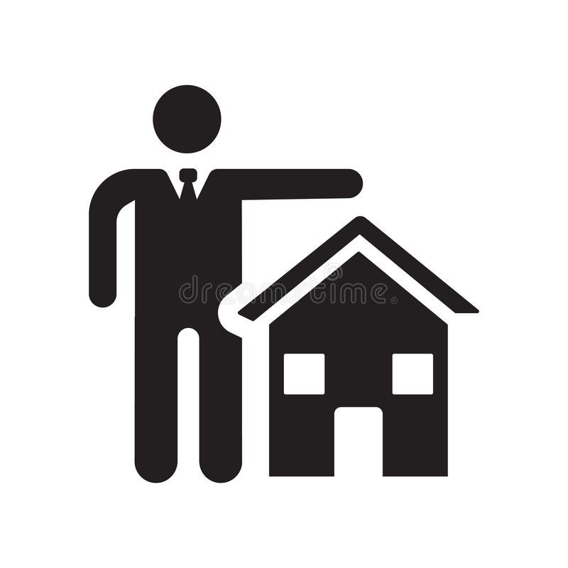 Real estate insurance icon. Trendy Real estate insurance logo co vector illustration