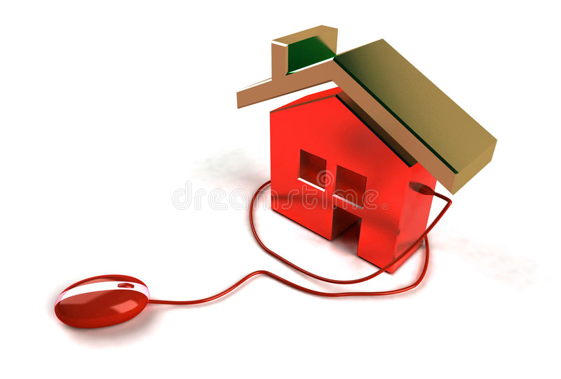 Real estate on the internet. Buy your house online royalty free illustration