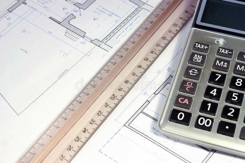 Real estate investing evaluetion. Office situation plannning investment and building project royalty free stock photography