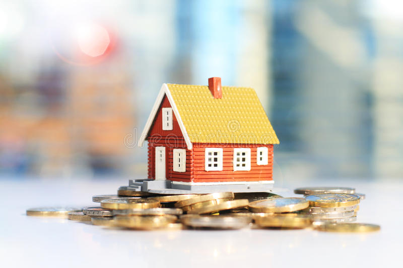 Real estate investment. Concept. House and money stock image