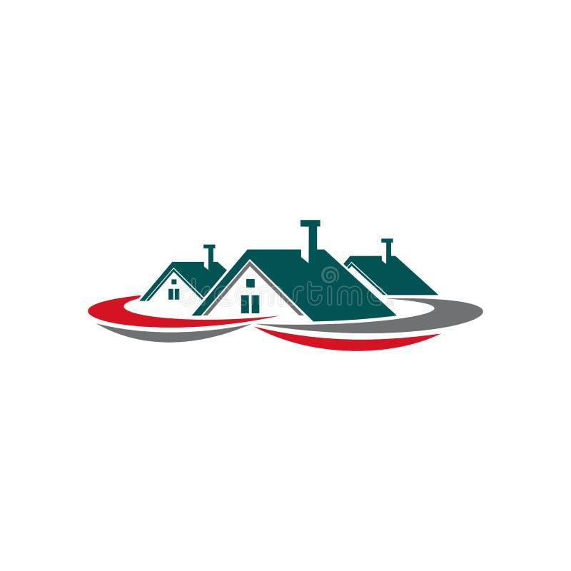 Real Estate Houses Logo Stock Vector. Illustration Of