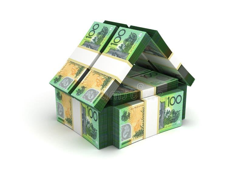 Real Estate-Konzept-australischer Dollar stock abbildung