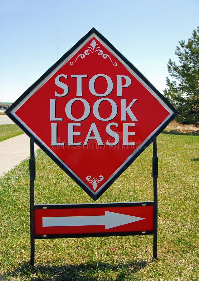 Real Estate lease sign stock images