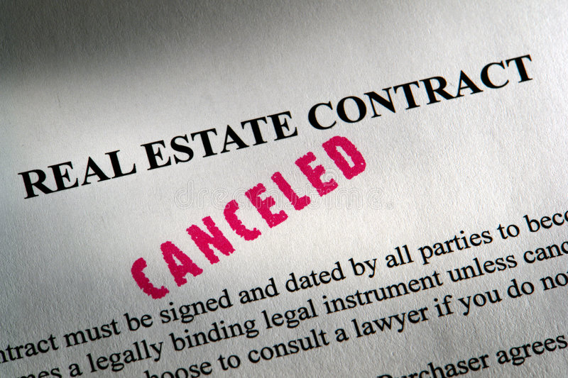 Real Estate Legal Contract with Canceled Ink Stamp royalty free stock photography