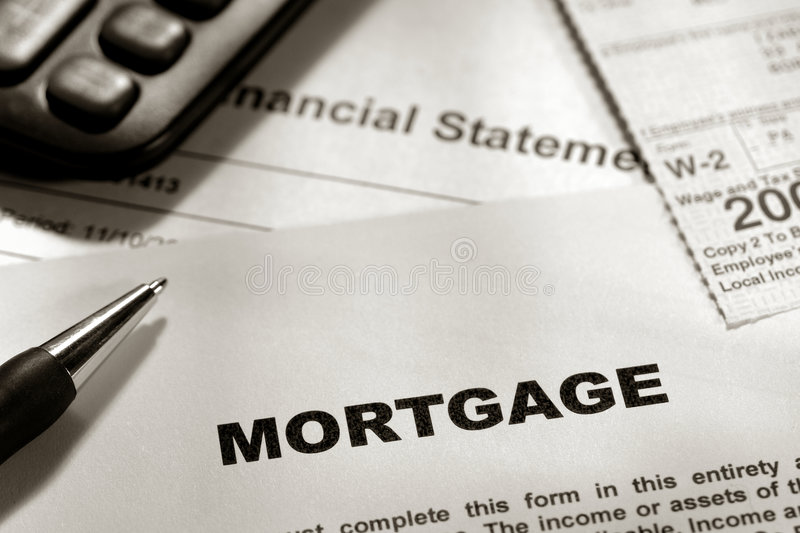 Real Estate Lender Mortgage Application Form stock photography