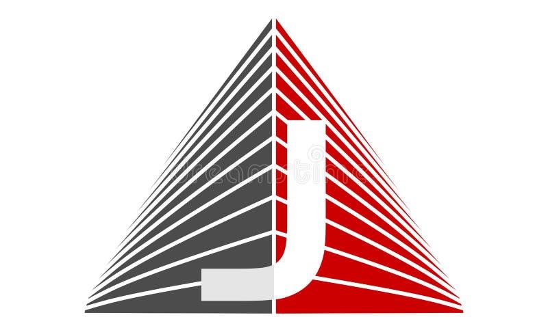 Real Estate letra J stock de ilustración