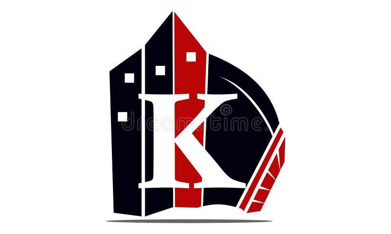 Real Estate letra K stock de ilustración