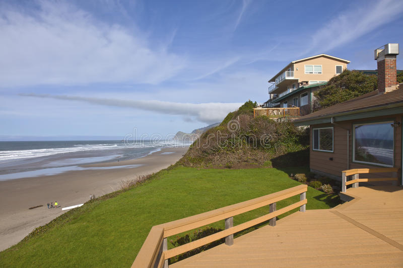Real estate in Lincoln City Oregon. royalty free stock photo