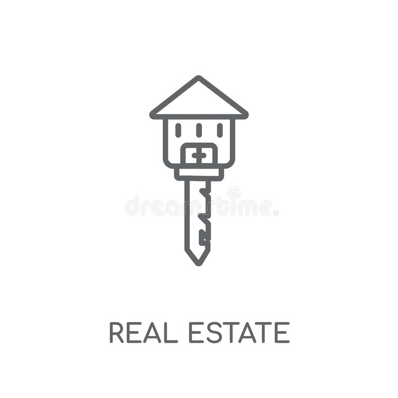 Real estate linear icon. Modern outline Real estate logo concept. On white background from Real Estate collection. Suitable for use on web apps, mobile apps and royalty free illustration