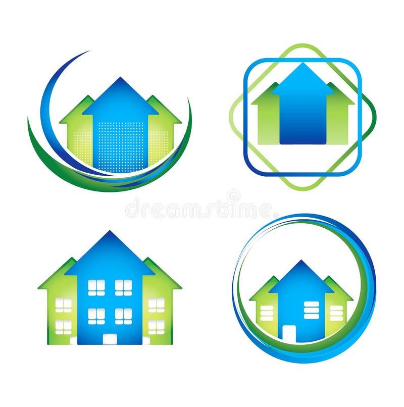 Real Estate loga pojęcia projektów paczka ilustracji