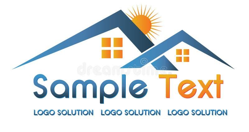 Real estate logo stock photo