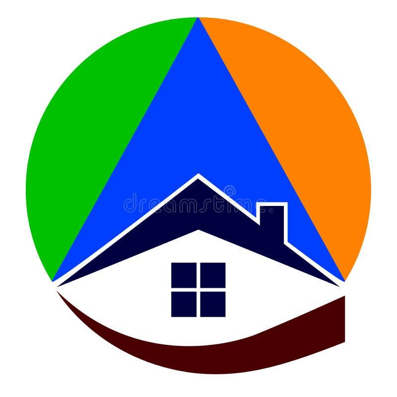 Real estate logo. Illustration of real estate logo design isolated on white background stock illustration