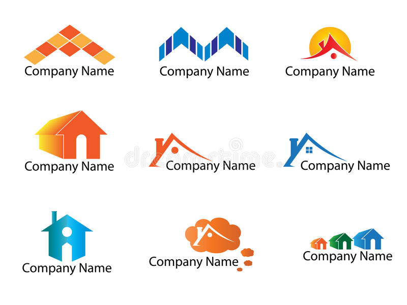 Real estate logo. Collection of real estate logo and icons