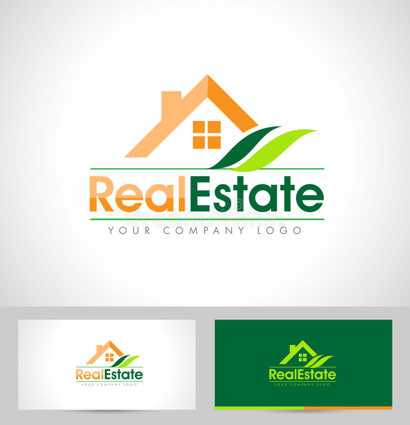 Real Estate Logo Design royalty-vrije illustratie