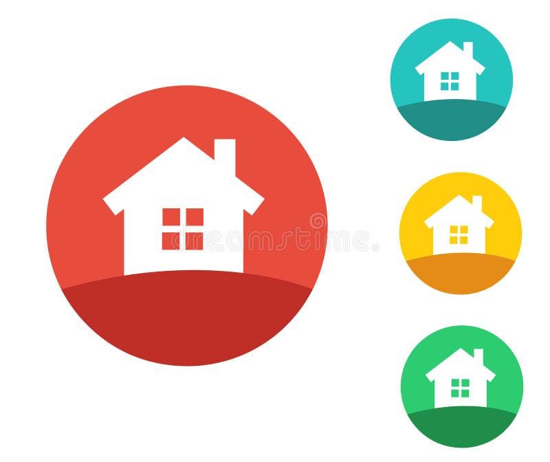 Real Estate Logo Design illustrazione vettoriale