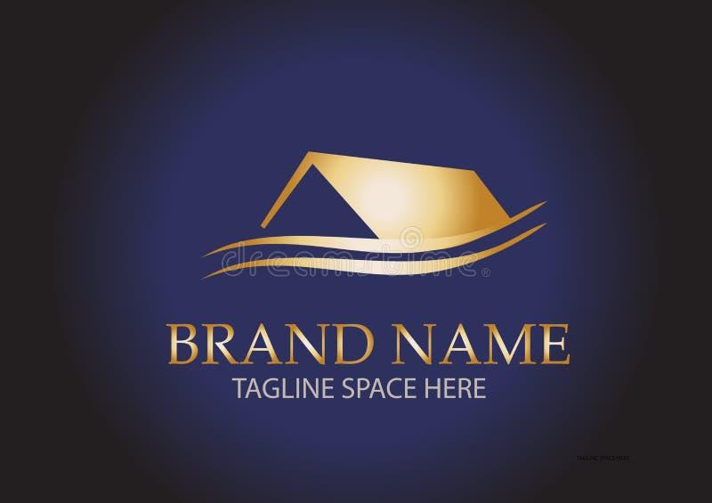 Real Estate Logo Design illustrazione di stock