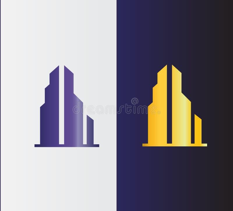 Real Estate Logo Design Construção, Logo For Your Company liso ilustração royalty free