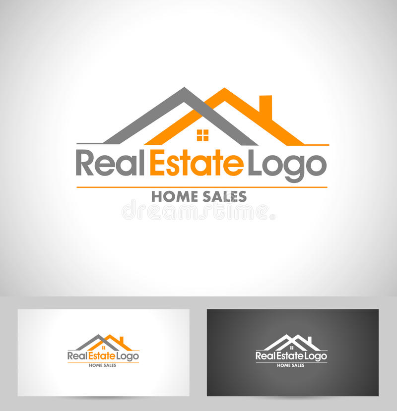 Real Estate Logo royalty free illustration