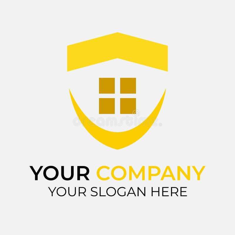 Real Estate Logo Design stock illustrationer