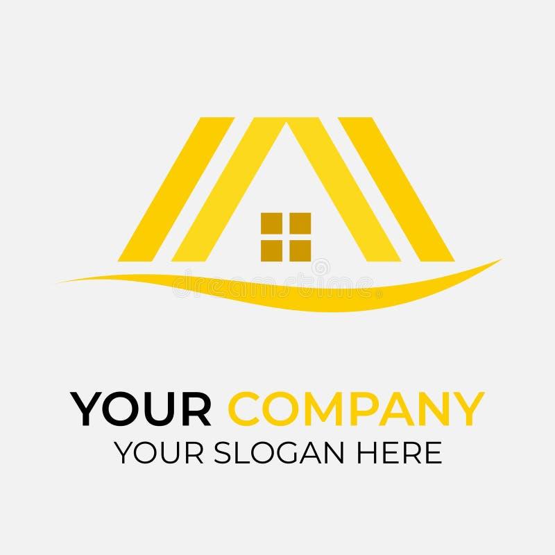 Real Estate Logo Design royaltyfri illustrationer