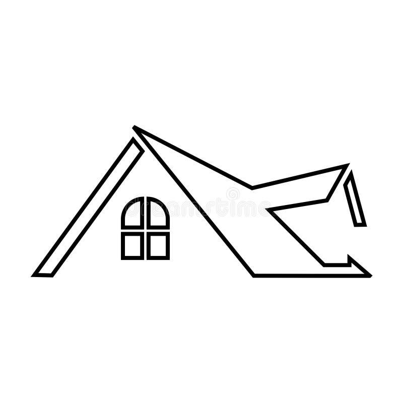 Real Estate Logo Design Line Icon Template Roof Line Symbol Icon Stock Vector Illustration Of Elegant Icon 172868698