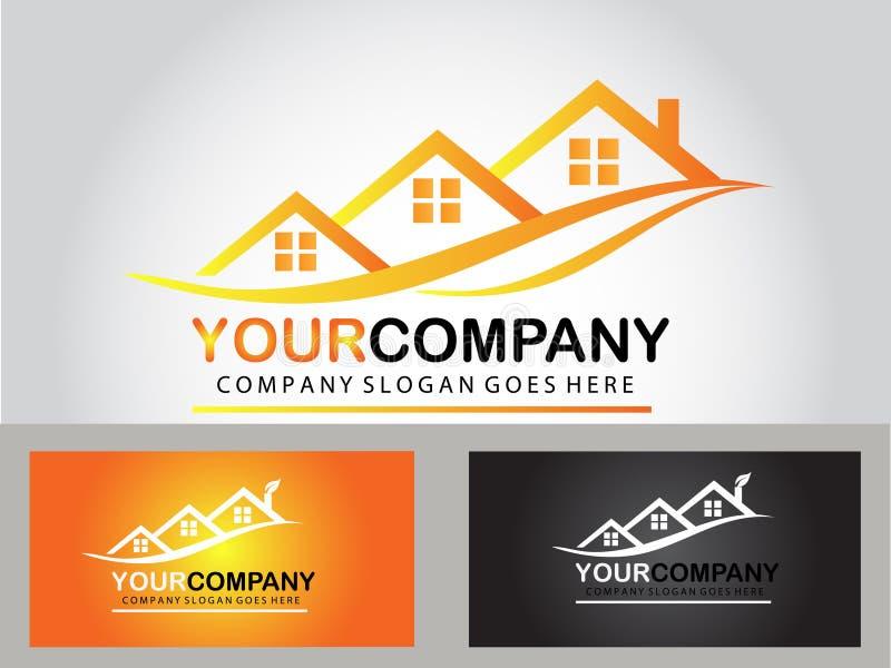 Real estate logo design stock images
