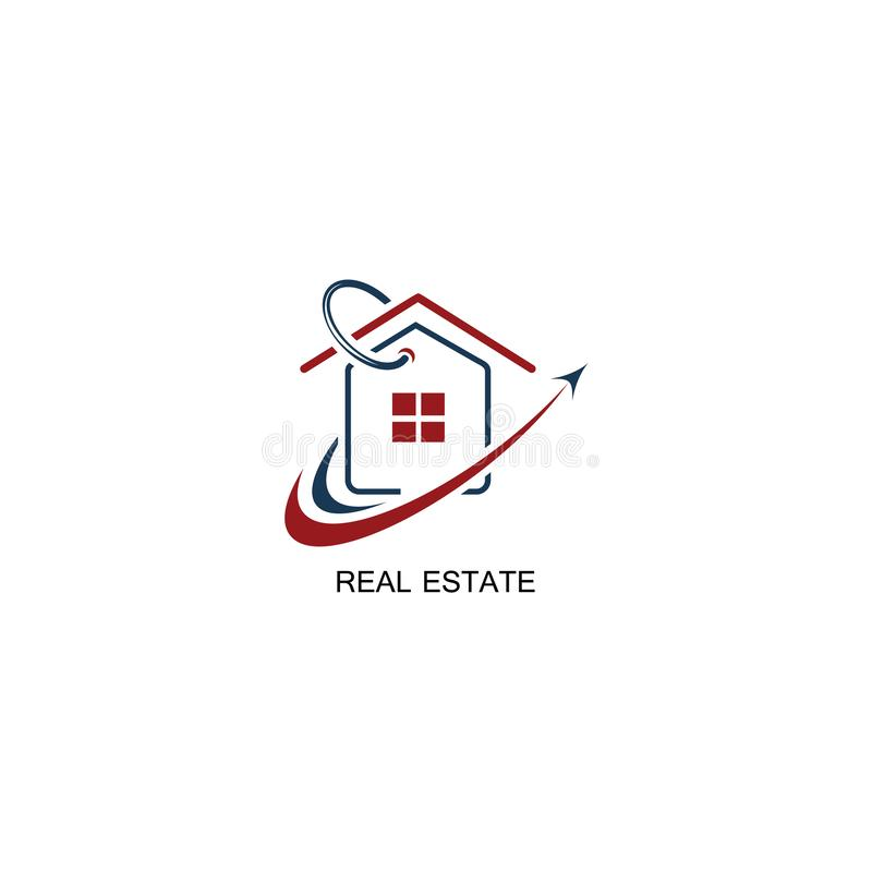 Real estate logo design. Selling building modern and elegant style design. Business logo design template. Home selling icon vector royalty free stock image