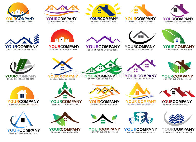 Real Estate Logo Design Set libre illustration