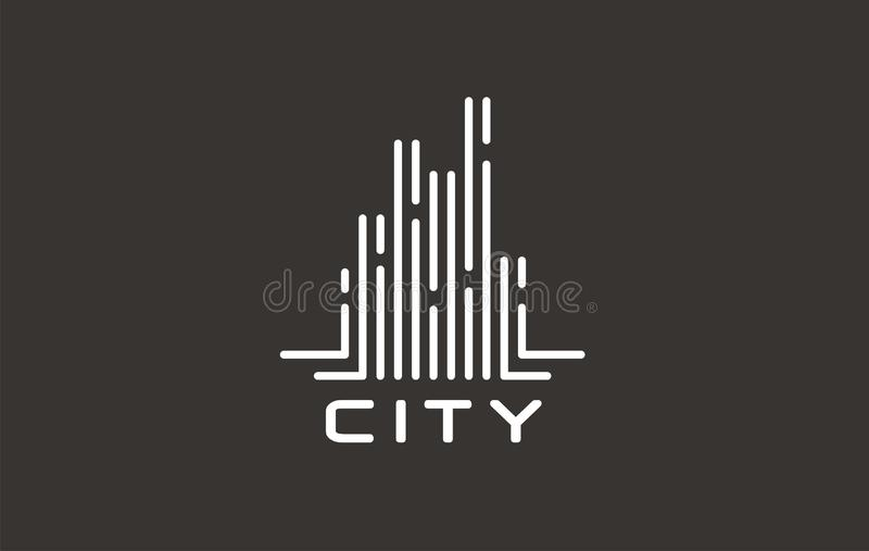 Real estate logo design. Vector template for building company. stock illustration