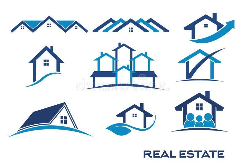 Real Estate Logo Designs illustration libre de droits
