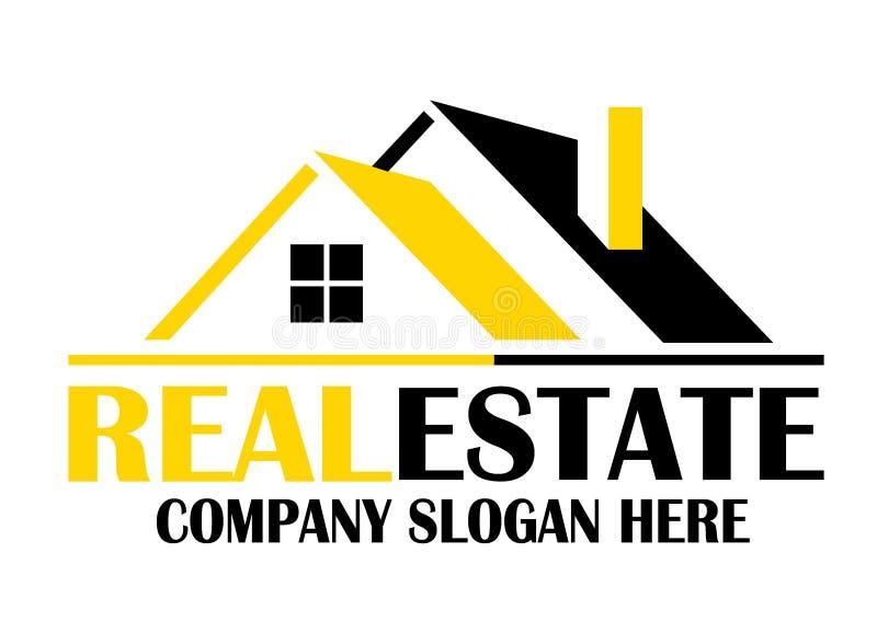 Real Estate logo dla firmy royalty ilustracja