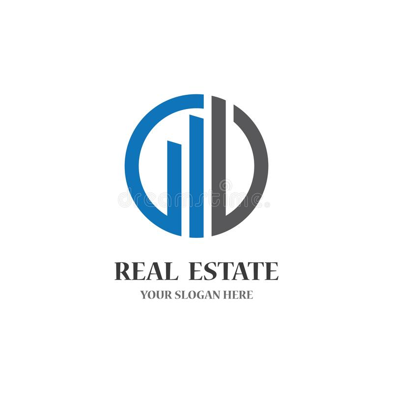 Real estate logo icon illustration. Design, background, building, vector, city, abstract, business, modern, house, style, concept, art, graphic, construction vector illustration