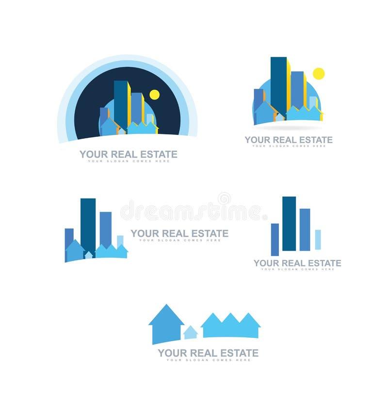 Real Estate Logo Icon Set Stock Vector Image 62241115