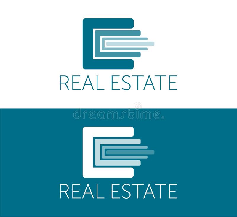 Real Estate Logo and Icon Template. colorful logotype. design icon. royalty free illustration