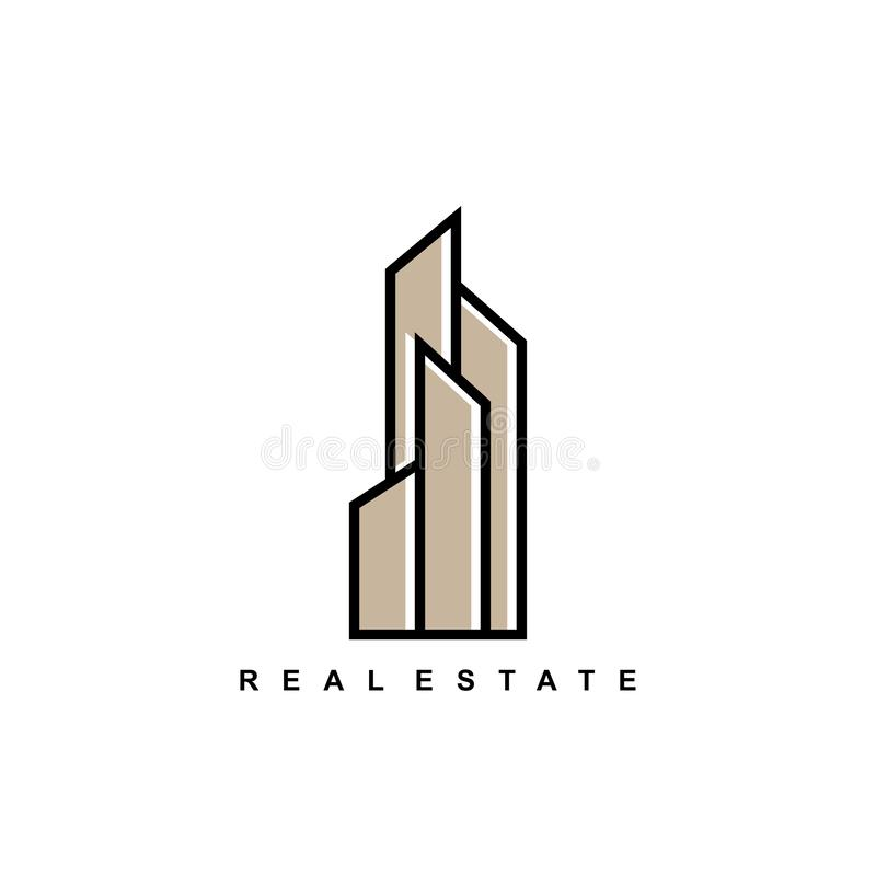 Real estate logo icon template minimalist design building hotel symbols vector illustration vector illustration