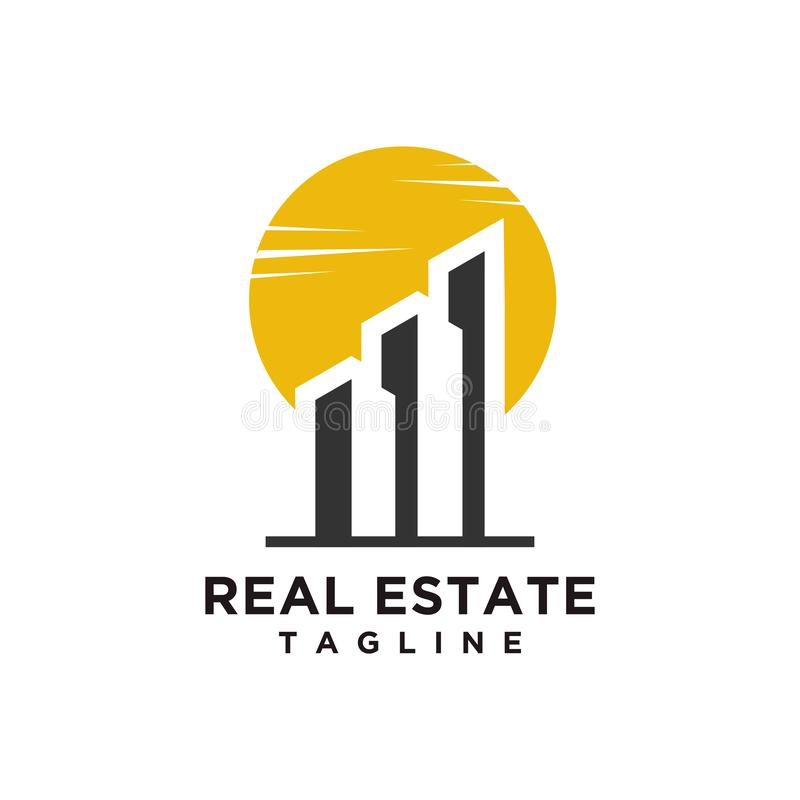 Real Estate Logo design minimalist style vector illustration