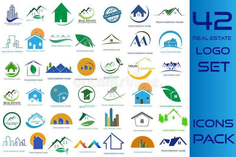 Real Estate Logo Pack royalty free illustration