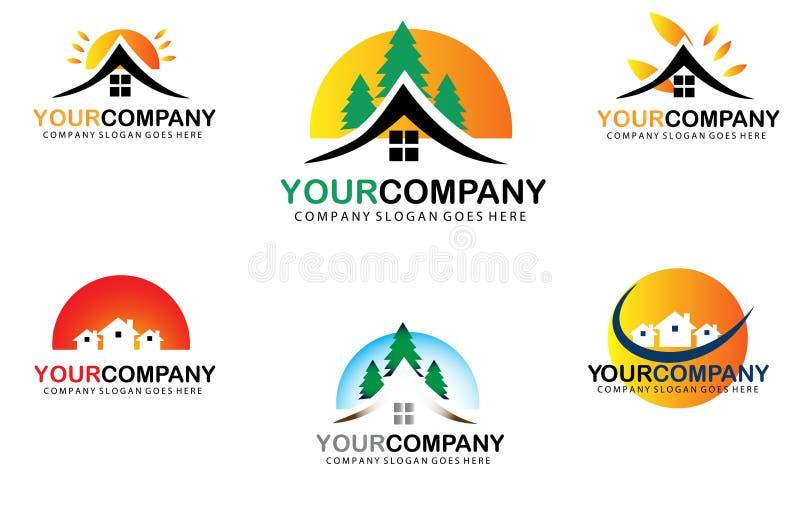 Real Estate Logo Set libre illustration