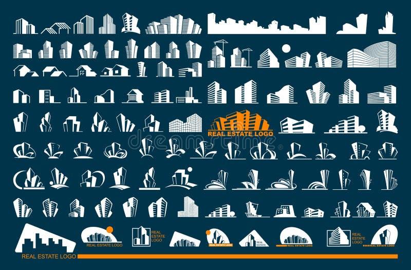 Real Estate Logo Set royalty free illustration