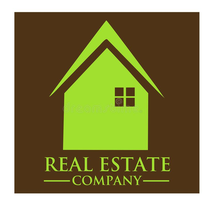 Real Estate Majątkowej firmy logo royalty ilustracja