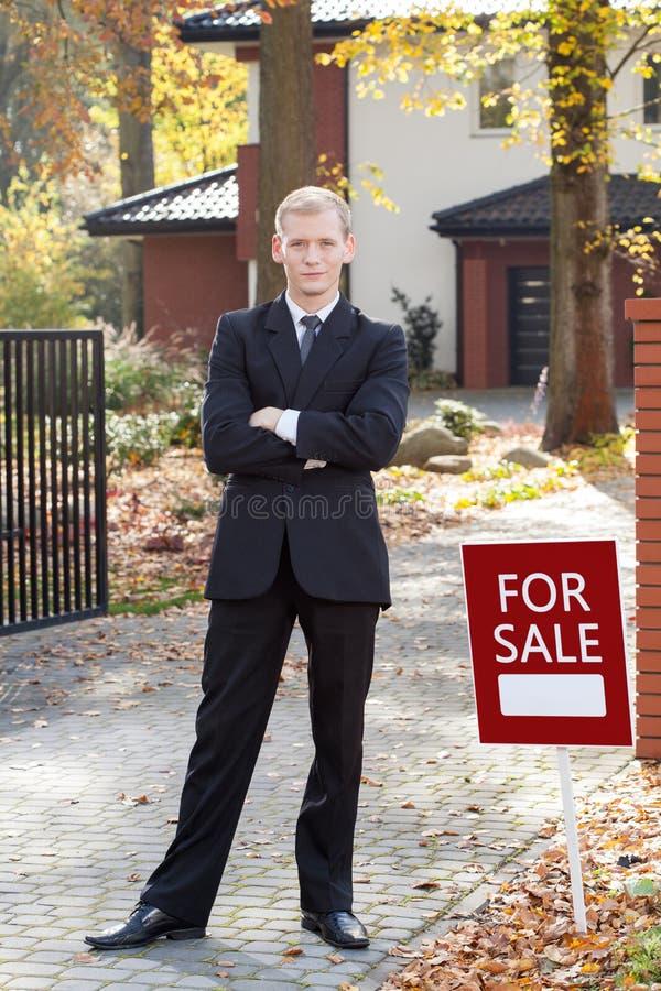 Real Estate-Makler lizenzfreie stockbilder