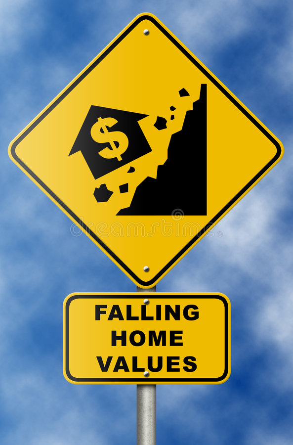Download Real Estate Market Collapse Road Sign On Blue Sky Stock Illustration - Image: 7755883