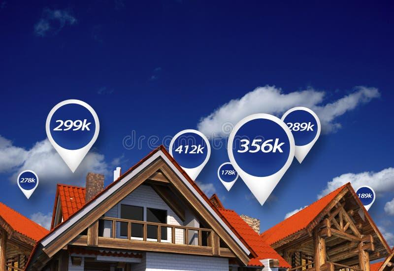 Real Estate marknadspris arkivbilder