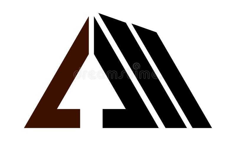 Real Estate marquent avec des lettres A avec la flèche  illustration libre de droits