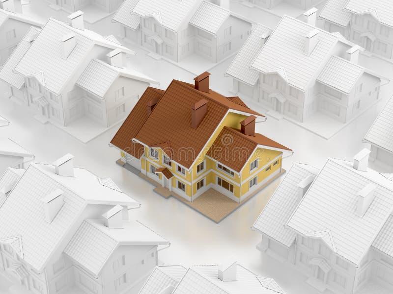 Real Estate matryca royalty ilustracja