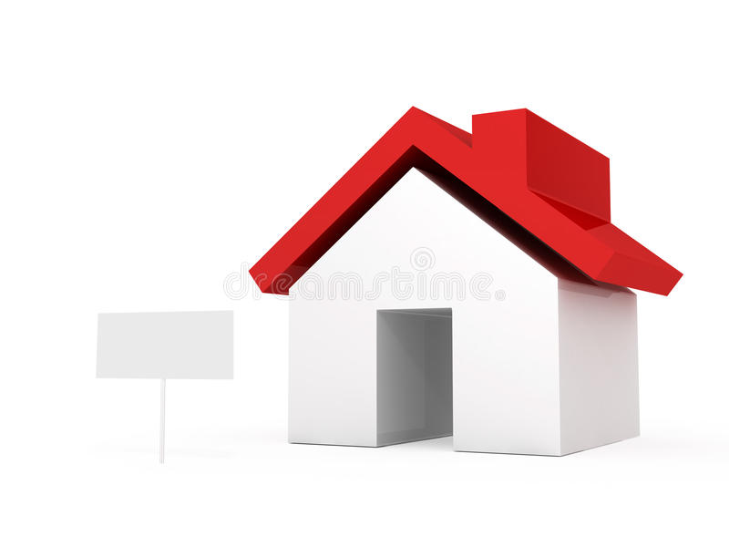 Real Estate met Leeg Teken vector illustratie