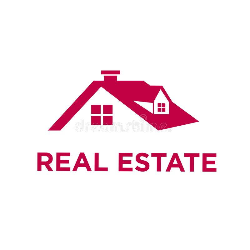 Real Estate Minimalis logo royaltyfri illustrationer