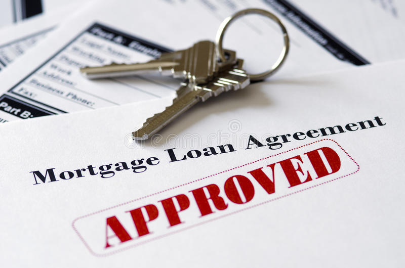 Real Estate Mortgage Approved Loan Document royalty free stock images