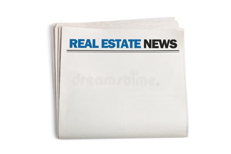 Real Estate-Nachrichten lizenzfreie stockfotografie